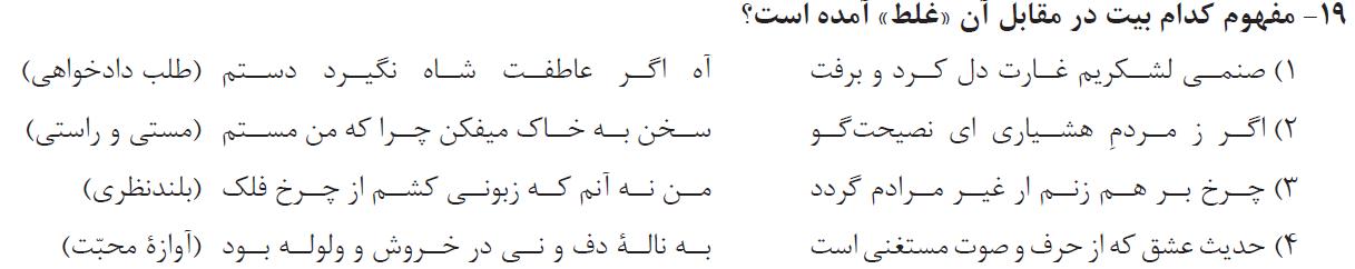 19-تست فارسی یازدهم میکرو گاج