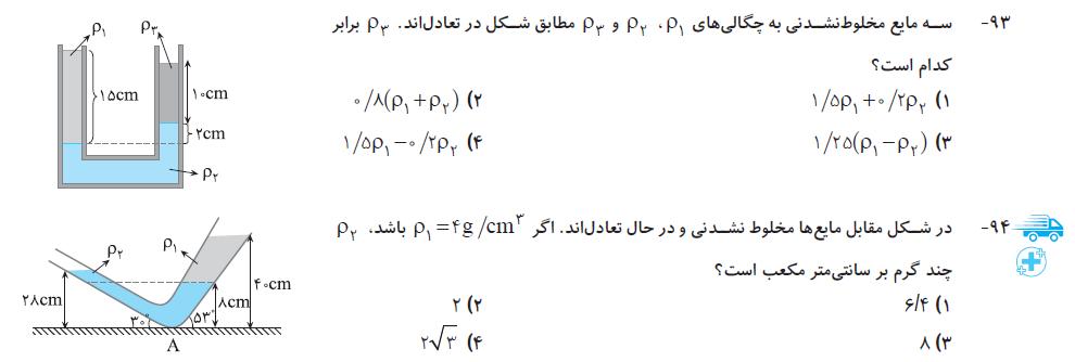 فیزیک دهم نشرالگو (رشته تجربی) تست 1